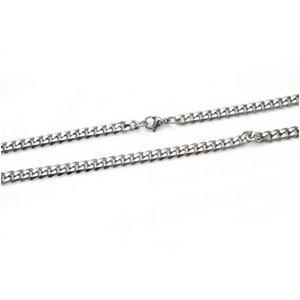 【10本組】ステンレス製ネックレス キヘイチェーン幅5mm/全長50cm h01