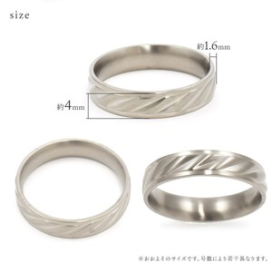 【ステンレス製指輪】カットラインリング シルバーカラー【5号】 f06