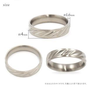 【ステンレス製指輪】カットラインリング シルバーカラー【11号】 f06