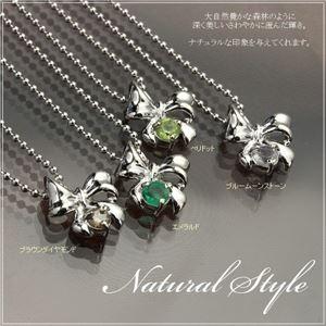 シルバー リボン誕生石ネックレス 4月 ダイヤモンド f04