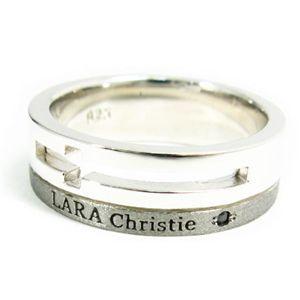 LARA Christie(ララクリスティー) ウィッシュクロス リング 15号[BLACK Label]