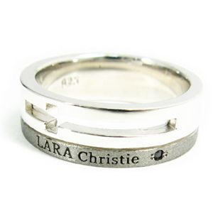 LARA Christie(ララクリスティー) ウィッシュクロス リング 17号[BLACK Label]