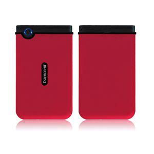 Transcend ポータブルHDDアンチショック 250GB TS250GSJ25M RED