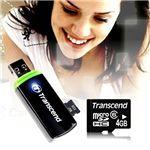 Transcend(トランセンド) 4GB microSDHC カードリーダ P5 セット ブラック