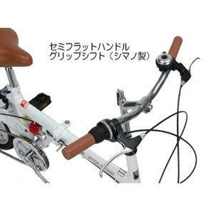 MYPALLAS(マイパラス) 折り畳み自転車 M-09 16インチ シマノ6段ギア リアサス ホワイト