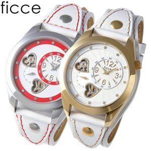ficce(フィッチェ) ツインムーブ レディースサマー レザーウォッチ FC-11031 SS(ホワイト) 画像2