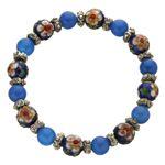 七宝焼天然石ブレス BLUE