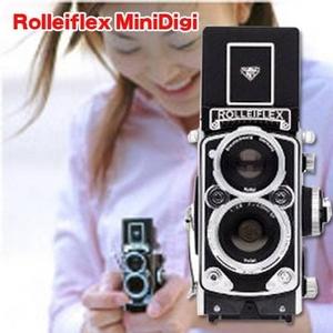 ローライの伝統と歴史が手のひらに☆Rolleiflex MiniDigi(ローライフレックス ミニデジ) ブラック