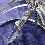 【訳あり・在庫処分】昇竜八角水晶ネックレス(チタンチェーン) チェーン60cmの画像