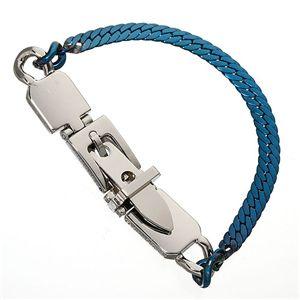 ヘリンボーン美錠ブレスレット ブルー