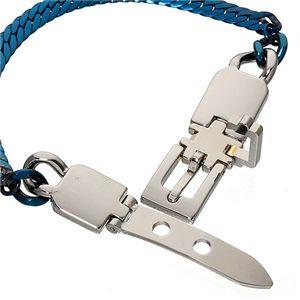 ヘリンボーン美錠ブレスレット ブルー h02