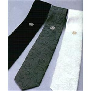 【訳あり・在庫処分】家紋が選べる!正装シルクネクタイ3本セット27:丸に抱き茗荷