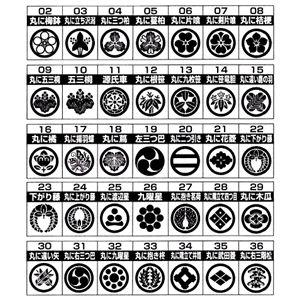 【訳あり・在庫処分】家紋が選べる!カフスタイピンセット 08:丸に桔梗
