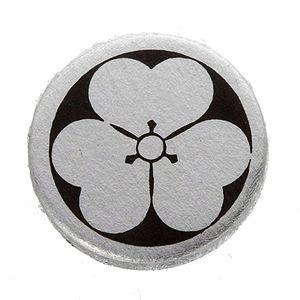 家紋カフス 6/丸に片喰