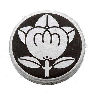 【訳あり・在庫処分】家紋カフス 16/丸に橘 - 拡大画像