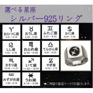 選べる星座シルバー925リング みずがめ座25号 f04