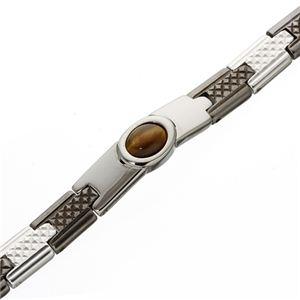 【訳あり・在庫処分】ダイヤカットタイガーアイブレス 小判型