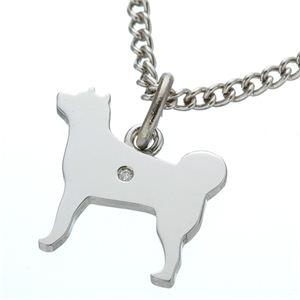 ダイヤ付シルバー犬猫ブレスレット 犬 - 拡大画像