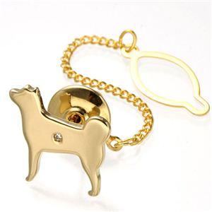 パワーストーンクリップ 犬/ゴールドカラー