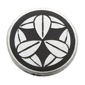 家紋つきメガネホルダー 【オニキス】丸に九枚笹