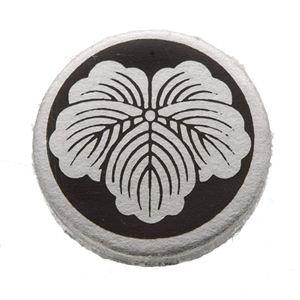 家紋つきメガネホルダー 【オニキス】丸に蔦