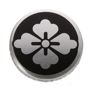 家紋つきメガネホルダー 【オニキス】丸に花菱