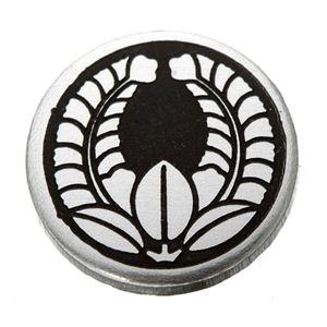 家紋つきメガネホルダー 【オニキス】丸に上り藤 h02