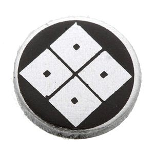 家紋つきメガネホルダー 【オニキス】丸に隅立四つ目