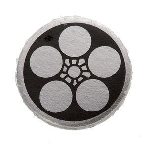 家紋つきメガネホルダー 【貝パール】丸に鉢梅