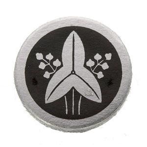 家紋つきメガネホルダー 【貝パール】丸に立ち沢瀉の紹介画像2