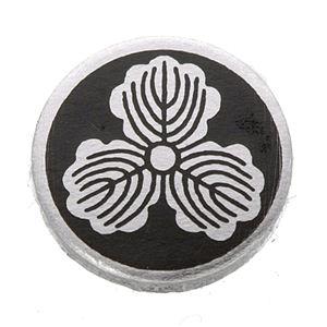 家紋つきメガネホルダー 【貝パール】丸に三つ柏 h02