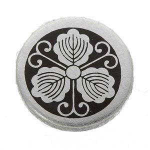 家紋つきメガネホルダー 【貝パール】丸につる柏