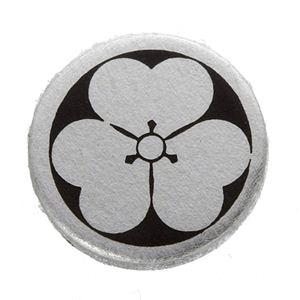 家紋つきメガネホルダー 【貝パール】丸に片喰