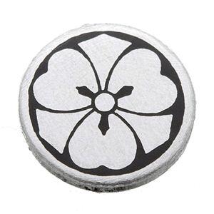家紋つきメガネホルダー 【貝パール】丸に剣片喰