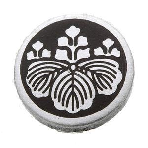 家紋つきメガネホルダー 【貝パール】丸に五三桐 h02