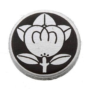 家紋つきメガネホルダー 【貝パール】丸に橘