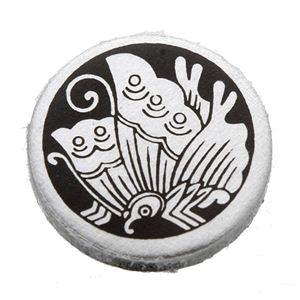 家紋つきメガネホルダー 【貝パール】丸に揚羽蝶