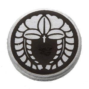 家紋つきメガネホルダー 【貝パール】丸に下がり藤