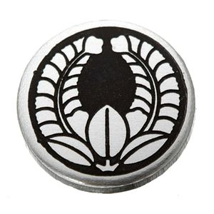 家紋つきメガネホルダー 【貝パール】丸に上り藤