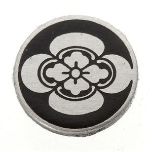 家紋つきメガネホルダー 【貝パール】丸に木瓜 h02