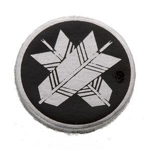 家紋つきメガネホルダー 【貝パール】丸に違い矢