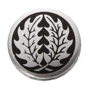 家紋つきメガネホルダー 【貝パール】丸に柊