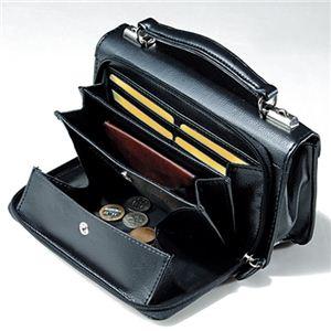 【日本製】家紋付 礼装多機能バッグ (小) 鍵付◆丸に右三つ巴 backs-31 h02
