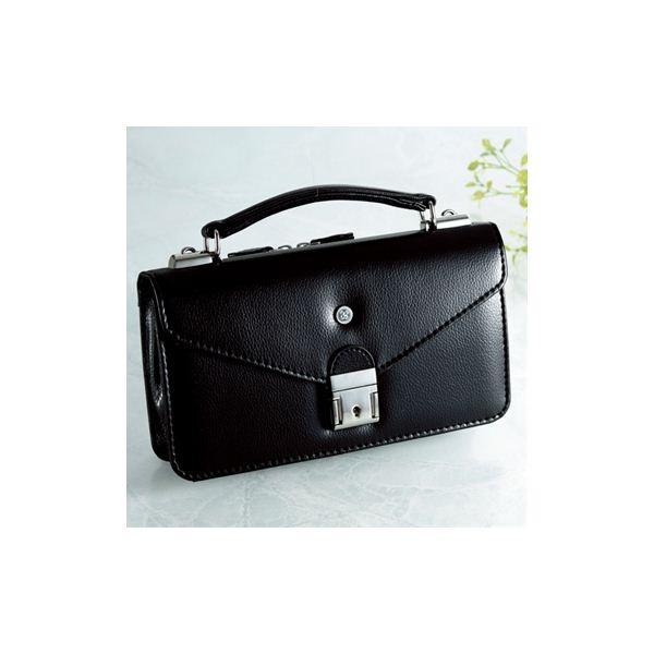 【日本製】家紋付 礼装多機能バッグ (小) 鍵付◆丸に隅立て井筒 backs-34f00