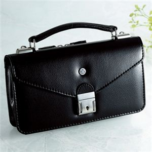 【日本製】家紋付 礼装多機能バッグ (小) 鍵付◆抱き稲 backs-60 - 拡大画像