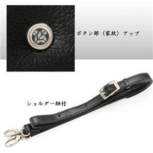 【日本製】家紋付 礼装多機能バッグ (大) 鍵付 14/丸に笹龍胆