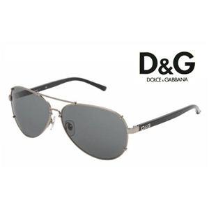 D&G(ディー&ジー) サングラス DD6047-079/87 ガンメタル×ブラック - 拡大画像