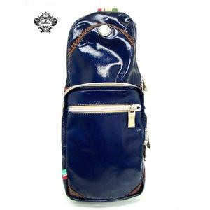 OROBIANCO(オロビアンコ) 縦型ボディバッグ ネイビー GIACOMIC★専用袋付き - 拡大画像