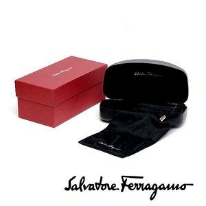 ガンチーニのクロスモデル★フェラガモサングラス(ブラック×【Ferragamo】ゴールドロゴ&モチーフ)