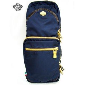 OROBIANCO(オロビアンコ) 縦型ボディバッグ ブラック GIACOMIO★専用袋付きの画像